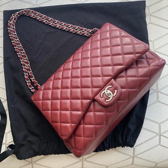 CHANEL Handbags - Preowned Chanel Classic flat maxi